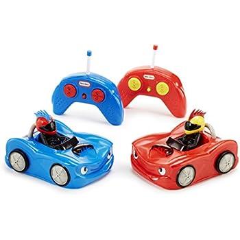 Amazon Com Little Tikes Rc Bumper Cars 2pk Remote