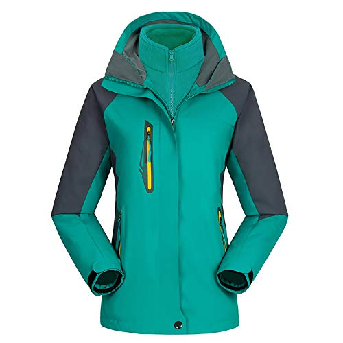Uinta Outerwear Mountain Ski Jacket | Best Women's Coat for Waterproof, Windproof, Two-Layer Warmth in Snow or Rain (Turquoise, -