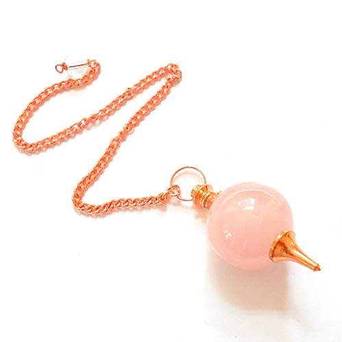 earthegy Rose Quartz Copper Sephoroton Pendulum