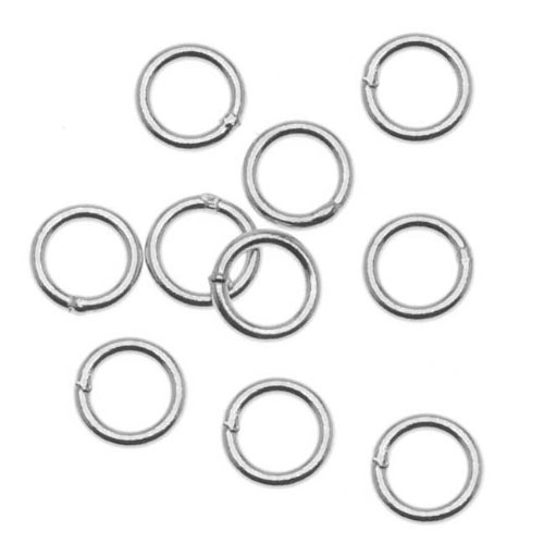Beadaholique Sterling Silver Closed 5mm Jump Rings 21 Gauge (20) (Rings Sterling Jump Silver 5mm)