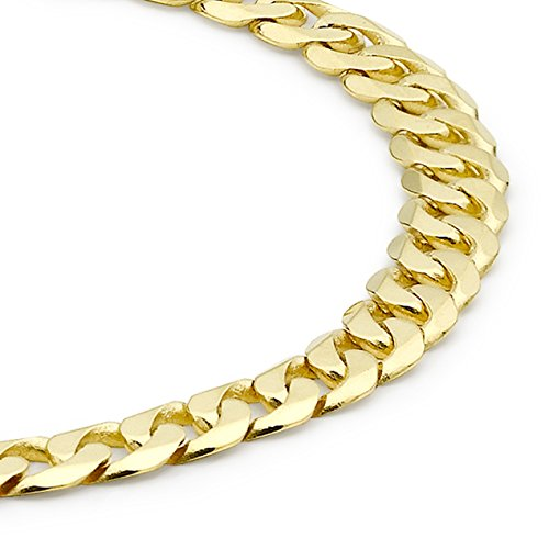 Carissima Gold Unisex 9 ct Or Curb Bracelet of Length 20 cm/8 inch