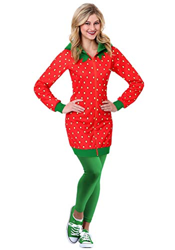 Strawberry Costume Women (Strawberry Hoodie Costume Dress)