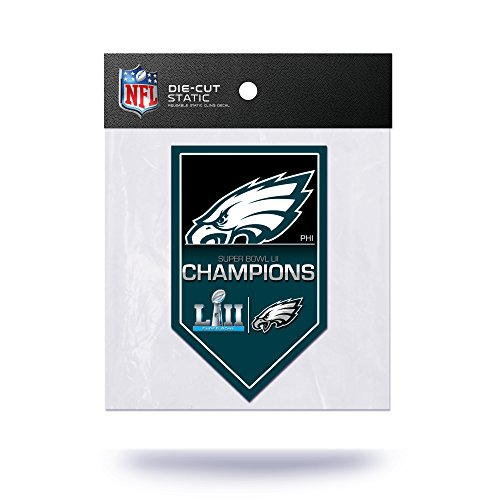 Rico Industries NFL Philadelphia Eagles Super Bowl LII Champions Die Cut Static Cling by Rico Industries