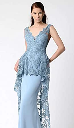 Beside By Gemy Blue Mixed Special Occasion Dress For Women