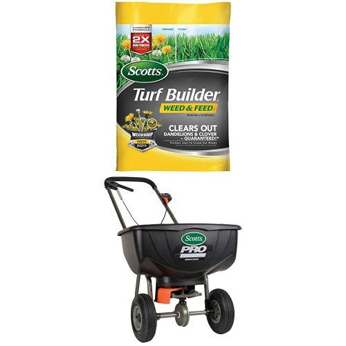 Scotts Pro Edgeguard Broadcast Spreader + Weed & Feed