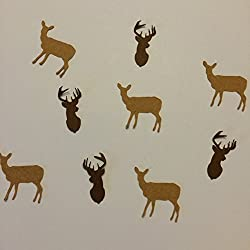 1in Confetti Set, Deer Cut Out, Buck Cut Out, Deer Hunting Theme, Autumn Theme, Rustic Theme, Fall Decorations, Animal Party Supplies
