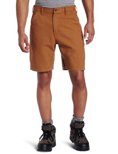 Carhartt Men's Washed Duck Utility Work Short B25,Brown  ,28