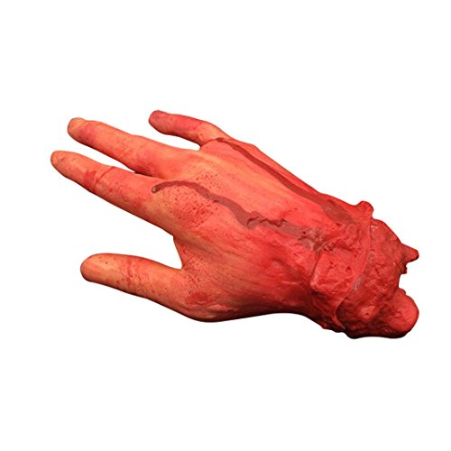 Set of 4 Fingers Scary Bloody Fake Hands for Disgusting Scary Blood Horror Halloween Fancy Dress Accessory HuaForCity Horror Props for Halloween Party and Cosplay