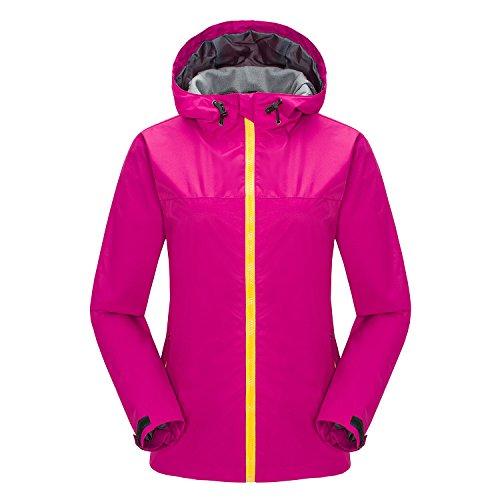 Lanbaosi Women's Lightweight Waterproof Windbreaker Breathable Outdoor Shell Jacket (Windstopper Hooded Shell Jacket)