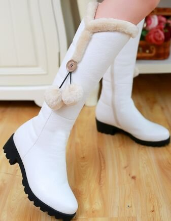 Laruise Women's Snow Boots White wAFAM7ek9T