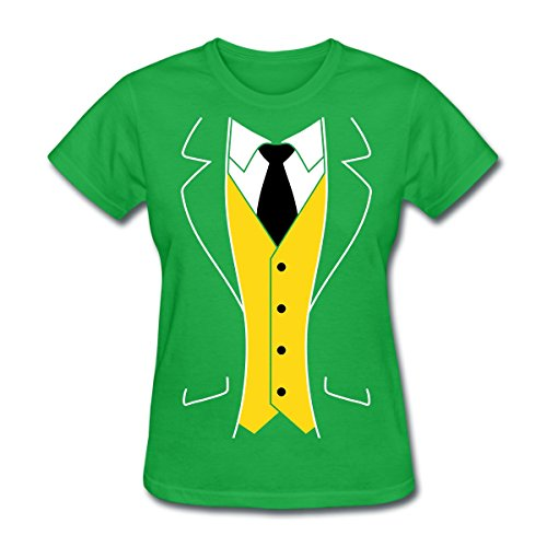 [Cool Tuxedo Costume Women's T-Shirt by Spreadshirt, XL, bright green] (Womens Tuxedo Costumes Tshirt)