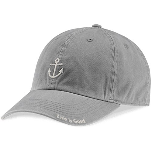 Anchor Ball Cap (Life is good Unisex Anchor Chill Cap, Slate Gray, One Size)