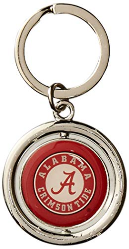 FOCO NCAA Alabama Crimson Tide Football Spinner Keychain, Red, One Size