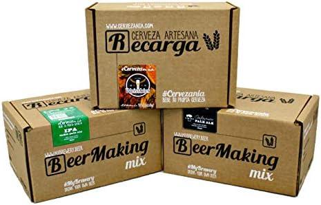 Pack 3 recargas de materias primas para elaborar cerveza en casa. #Cervezanía IPA, Weissbier Tri...