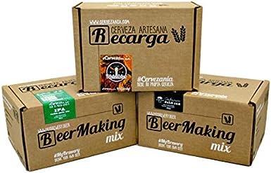 Pack 3 recargas de materias primas para elaborar cerveza en casa. #Cervezanía IPA, Weissbier Trigo & Albero Gastronómica Pale Ale: Amazon.es: Alimentación y bebidas
