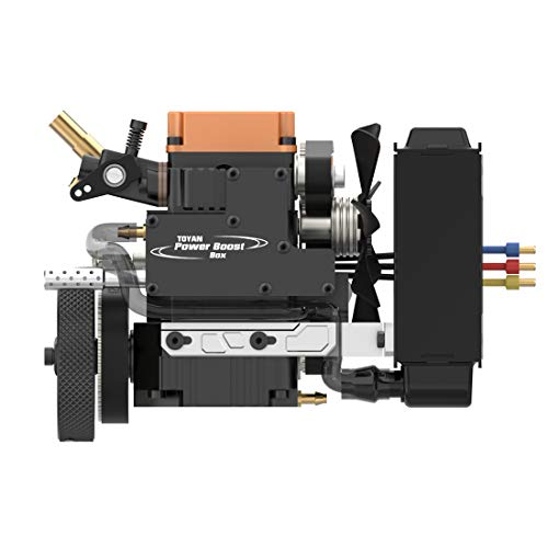 XSHION TOYAN Single-Cylinder 4-Stroke Methanol Engine Model FS-S100WA2 with Water-Cooled Pump Water-Cooled Box for 1/10 1/12 1/14 RC Car Boat Airplane