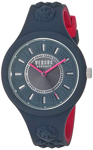 0e96d8684146 Versus by Versace Women s  FIRE Island Bicolor  Quartz Stainless Steel and  Silicone Watch,