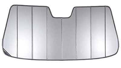 Covercraft UVS100(UV10966SV) - Series Heat Shield Custom Windshield Sunshade for Chevrolet and GMC (Laminate Material, Silver)