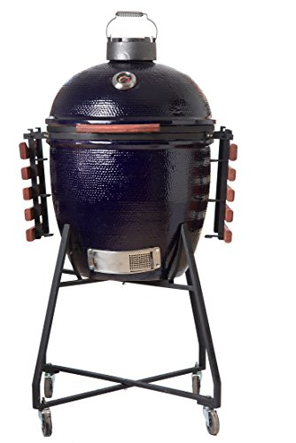 Buy Cheap Large 22 Hand Crafted Kratos Kamado BBQ Grill & Smoker (Blue)