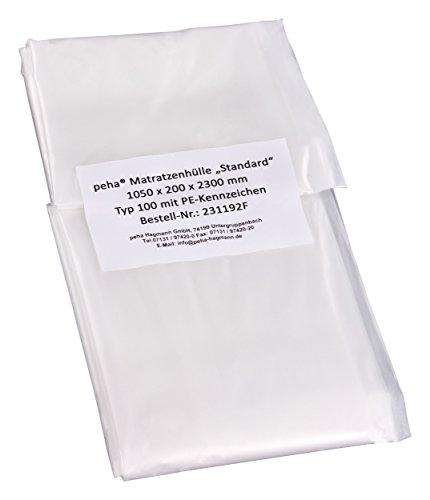 peha® Matratzenhülle / Schutzhülle - Standard (1050x200x2300mm), geruchsneutral und reißfest