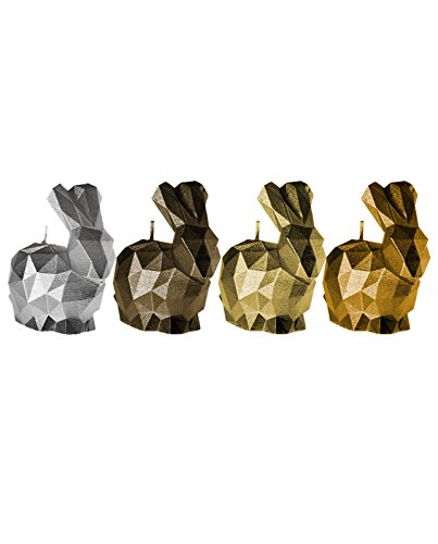 Candellana Candles 5902841369375 Bunny 4 Pcs-Assorted V by Candellana Candles