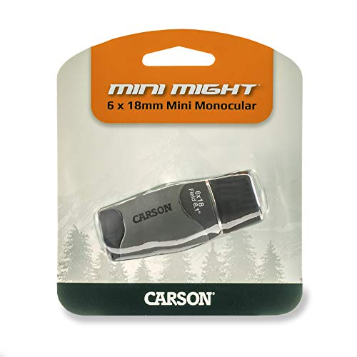 - Carson MiniMight 6x18mm Pocket Monocular with Carabiner Clip (MM-618)
