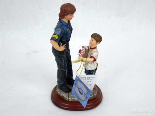 """Vanmark Blue Hats of Bravery """"A Gift of Thanks"""" Music Figurine"""