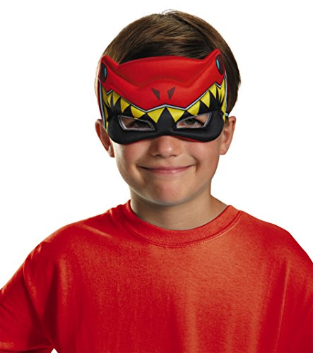Disguise Red Ranger Dino Charge Puffy Mask Costume (Dino Charge Costume)