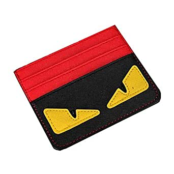 Little Monster Men Slim Minimalist Card Holder Red 2498TT