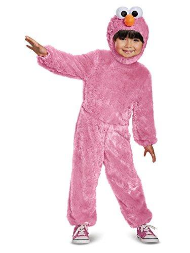 Elmo Comfy Fur Costume, Pink, Small (2T)