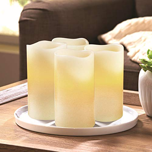 Better Homes and Gardens Flameless LED Pillar Candles 4-Pack, Vanilla Scented