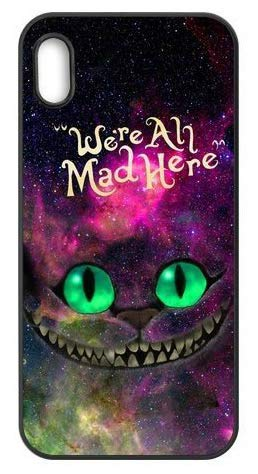 iPhone, Alice in Wonderland Cheshire Cat Ultra Slim Translucent Silicone Clear Case Gel Cover for Apple (iPhone X)