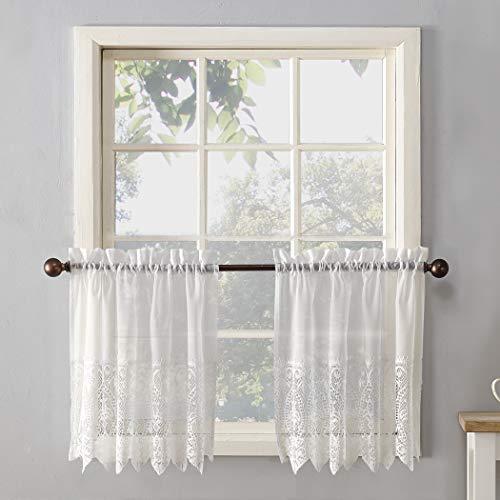 - No. 918 Joy Classic Lace Kitchen Curtain Tier Pair, 60