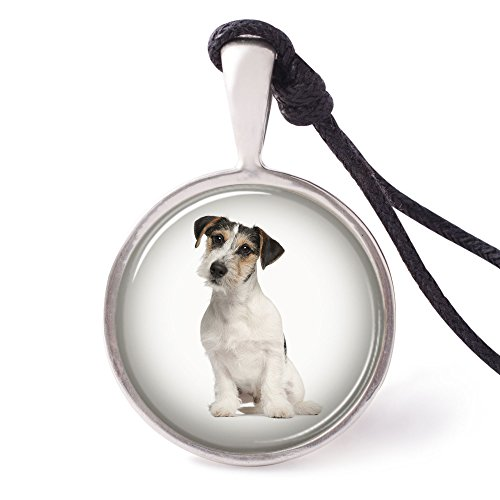 (Vietguild's Jack Russell Terrier Necklace Pendants Pewter Silver)