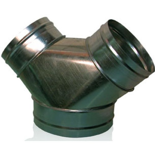 -Connector - Galvanized Steel - Pre-crimped - For use with 10 in. or 12 in. Circular Air Duct Systems - Hydrofarm ACY121010 by Hydrofarm ()