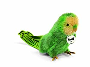 Steiff 33308 Hansi - Periquito de peluche color verde de 13 cm [Importado de Alemania]