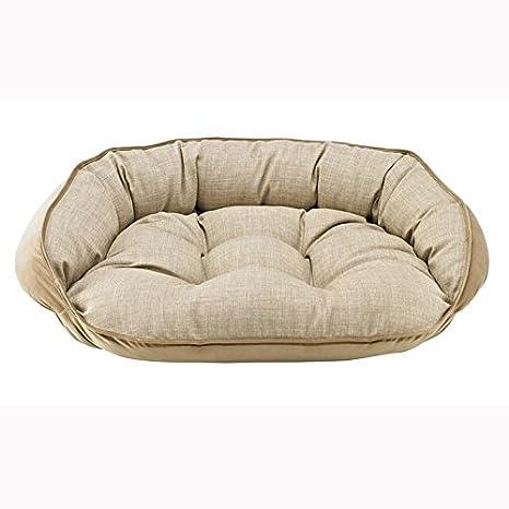 Amazon.com: Media Luna cama en lino tela (Tamaño Mediano: 32 ...
