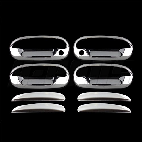 (A-PADS For Ford Expedition 97-02, F-150 Heritage 2004, F-150 97-03 Chrome (4 Doors) handles covers w/ psg keyhole w/ key pad)
