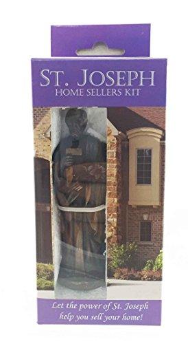 Divinity Spiritual Saint Joseph Figurine Statue Home Seller Kit With Prayer Card -