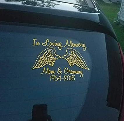 In Loving Memory Car Decals >> Amazon Com Celycasy In Loving Memory Car Decal Personalized