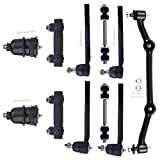 INEEDUP NEW 11 Set of Center Link RWD Tie Rod Ends Ball Joints Front Sway Bar Links Adjusting Sleeve Compatible with for Chevrolet Blazer S10 GMC Jimmy Sonoma Isuzu Hombre 1999-2001 Oldsmobile Bravada