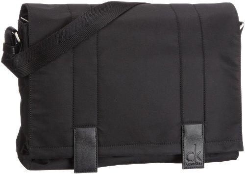 ck Calvin Klein Weightless KDS001P9A00 - Bolsa de mensajero de nailon para hombre Negro