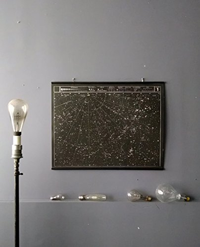 Large Star Map, Celestial Chart Wall Hanging Silk Screen