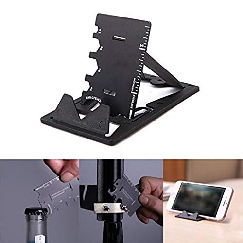 m·kvfa 3 In 1 Mini Card Multifunctional Folding Phone Bracket Bottle Opener Tool Kits Collapsible Grip & Stand for Phones