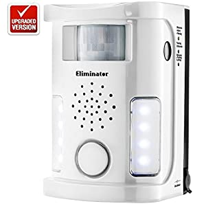 Eliminator Robust Electronic Outdoor/Indoor Rodent and Animal Pest Repeller for Cats, Dogs, Deer, Birds, etc. [UPGRADED VERSION]
