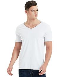 Essential Seamless Undershirts Short-Sleeve V-Neck T-Shirt Vee Tee