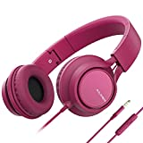 AILIHEN C8 (Upgraded) Headphones with Microphone and Volume Control Folding Lightweight Headset