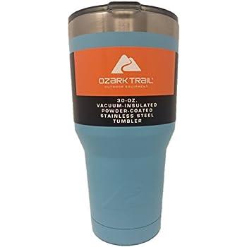 Ozark Trail Light Blue 30oz. Vacuum Insulated Powder Coated Stainless Steel Tumbler