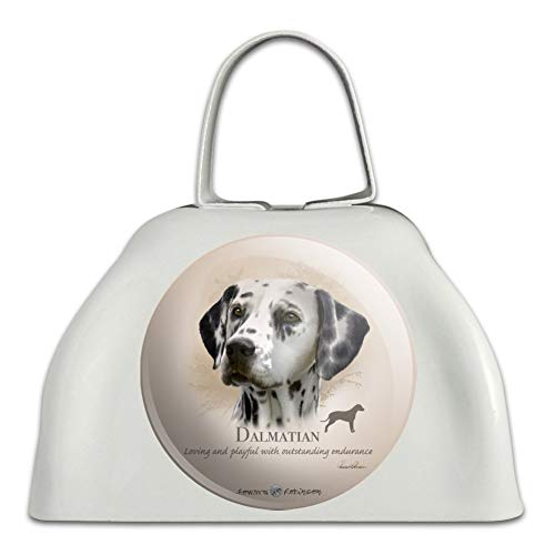 (Dalmatian Dog Breed White Metal Cowbell Cow Bell Instrument)