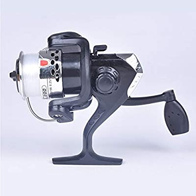 CUSHY Electroplate Spinning Fishing Reel Spin Fishing Coil Wheel for Sea Fishing 3 Ball Bearing 2 Control Systems Fishing Reels #18:, 3
